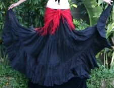 25 YARD COTTON S M L TRIBAL GYPSY BOHO FLAMENCO BELLY DANCE DANCING CIRCLE SKIRT