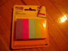 "New ! 5PK Post-it Pagemarker Flags - Self-adhesive -0.5""x2"" - Assorted"
