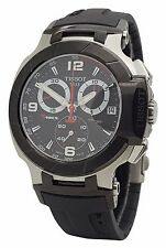 Tissot Mens T-Race  T048.417.27.057.00 Black Rubber Band Chronograph Date Watch