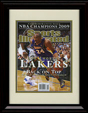 Framed LA Lakers Sports Illustrated Championship Commemorative Print - 2009 Kobe