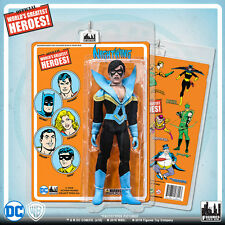Official DC Comics Nightwing 8 inch Action Figure on Mego-Like Retro Card