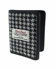 Authentic Harris Tweed Credit Card Holder Black/White Dogtooth LB2006 COL 29