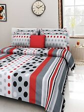 Homefabs 100% Cotton Double Bed Sheet with 2 Pillow Covers (DBS 066)