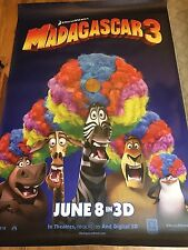 RARE! HTF MADAGASCAR 3 MOVIE BUS POSTER 70 X 48