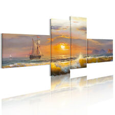 Canvas Prints Home Decor Wall Art Painting Picture-Sunrise Sea Ship Unframed A+