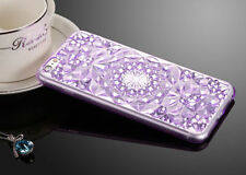 Bling Glitter Crystal Rubber Soft Silicone Case Cover for Apple iPhone 6 6s Plus