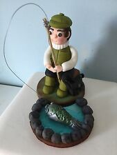 Fisherman/Fishing Cake Decoration Topper for Birthdays and Special Occasions