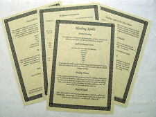 13 Healing Spells BOOK OF SHADOWS PAGE SET wicca print parchment spell BOS