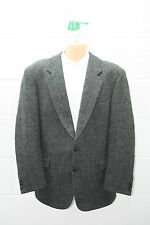 "VINTAGE HARRIS TWEED WOOL JACKET SUIT SMART DESIGNER CLASSIC COUNTRY 46"" HT21X"