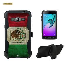 Beyond Cell Shell Case Armor Kombo For Samsung Galaxy J3 AMP PRIME Mexican Flag
