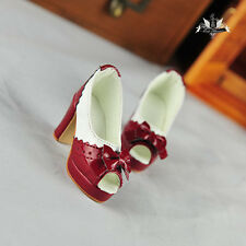 1/3 BJD Shoes Dollfie MID DREAM red High heeled sandals shoes DOD AOD Dollmore