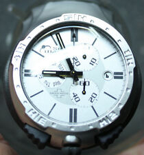 ANDRE LE MARQUAND SWISS MADE SIDE WATCH NEW CC500 CHRONOTIMER LEATHER SILVER