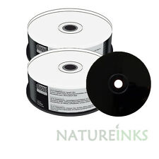 50 MEDIARANGE Nero Bottom CD-R CD vuoto R DISCHI FULL WHITE PRINTABLE 52X 700 MB