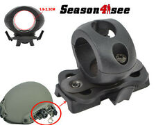 For Fast Helmet 21mm Tube Mount Flashlight Clamp Airsoft Tactical Holder Black