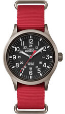 "Timex TW4B04500, Men's ""Expedition"" Red Nylon Watch, Scout, TW4B045009J"