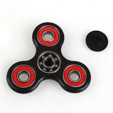 Hot Tri-Spinner Fidget Hand Finger Focus Toy EDC Pocket Desktoy Black & Red RR