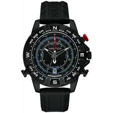 Orologio Uomo NAUTICA NSR 103 NAI21001G Bussola Termometro Maree Silicone Nero