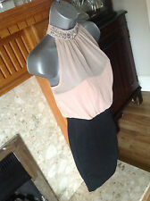BNWT New look 2 in 1 Embellished Neck BodyCon party DressSZ 8/36RRP £35.00.