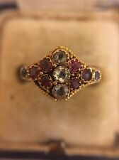 Victorian Antique Yellow Gold Hallmarked 15ct 15k Ruby Ring Ornate