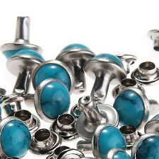 RUBYCA Blue Turquoise Rapid Rivets Studs DIY Leather-Craft for Bag Shoes ... New