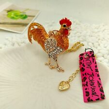 Betsey Johnson Lovely Rooster Pendants chain Sweater chain necklace CC228