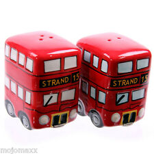Novelty London Routemaster Bus Ceramic Salt and Pepper Set Home Kitchen Gift Box