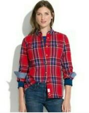 NEW Penfield Madewell Haverhill Buffalo Plaid Flannel Check Top S Red Wool