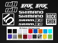 Mountain Bike DH Variety Decal Lot ODI FOX SRAM DH MTB Rock Shox Freeride Dirt