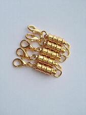 5 pcs Magnetic Gold Plated Brass Clasps Jewelry Fastener Lobster Claw Makin #82G