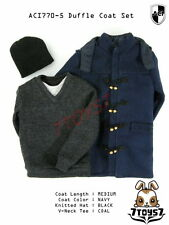 ACI Toys 1/6 770-5 Medium Navy Duffle Coat_ Set #5 _Fashion hat Bid AT078Z