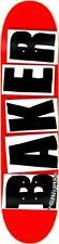BAKER LOGO BRAND BLACK SKATEBOARD DECK 7.75 (7.875) **FREE GRIP**FREE SHIPPING**