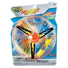 Poof Lazer Disc Light Show Toy Flying Saucer w/ Lights Orange & Yellow