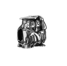 Authentic Chamilia GB-37 Graduation Owl Sterling Silver Bead Charm