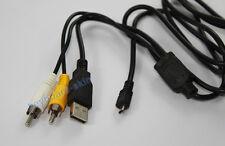 USB+AV Cable Panasonic Lumix DMC-FX01 FX07 FX10 FX12