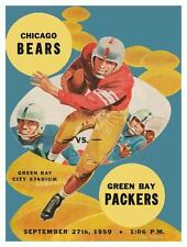 Chicago Bears vs Green Bay Packers **LARGE POSTER** 1959 Football VINCE LOMBARDI