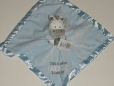 NWT Carters This Is What Handsome Looks Like Zebra Horse Security Blanket Rattle