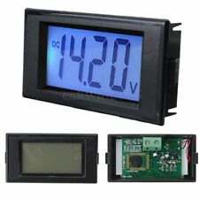 DC 7.5-20V Blue LED LCD Display 4 Digits Digital Panel Voltage VoltMeter