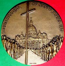 RELIGIOUS/ VATICAN /RECONCILIATION SAINT YEAR ROME 1975 BRONZE MEDAL BY S.BRANCO