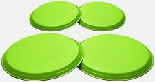 Lime Hob Cover Set 4PC Stainless Steel Electric Cooker Protector Burner Ring Set