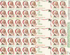 US American Lung Association Xmas Seals MNH sheet Santa 1983