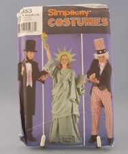 Simplicity Patriotic Pattern #5983 Costume Uncle Sam Lincoln Liberty Halloween