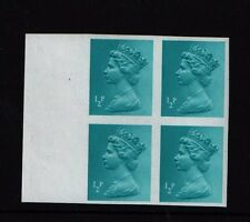 x924  1/2p TOTAL IMPERF BLOCK OF FOUR CAT £300 DEFINITIVE  ERROR MISTAKE STAMP