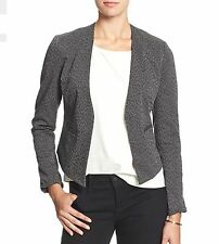 Banana republic blazer jacquard animal print gray and black size 4 BNWT