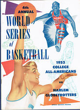 1953 World Series of college ncaa Basketball Official Program / globetrotters nm