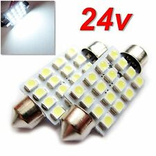 UK 24v x2 C5W 40 / 41mm Truck Lorry HGV Interior Number Plate Festoon LED BULB