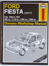 New Ford Fiesta Haynes Car Manual Feb 1989 to 1991 Petrol