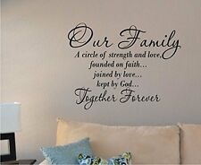 Removable Our Family Words Vinyl Art Wall Sticker Mural Home Decal Decor Room