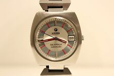 "VINTAGE RARE BEAUTIFUL ALL STEEL SWISS MEN'S AUTOMATIC WATCH""ROAMER""SEAROCK/28J"