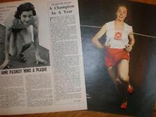 Photo article UK 400M runner Valerie Ball 1951