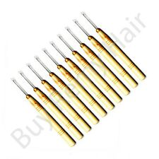 10 x Pre-bonded Hair Extension Tool Pulling Needle/threader For Micro Rings